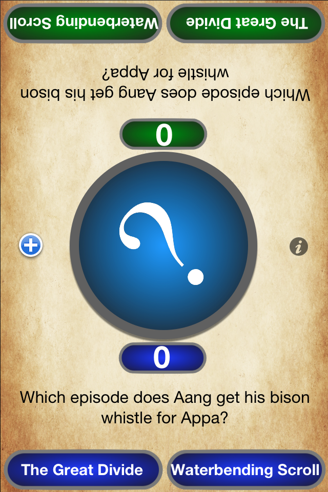 "Screenshot ""Avatar the Last Airbender Edition"" King's App Trivia"